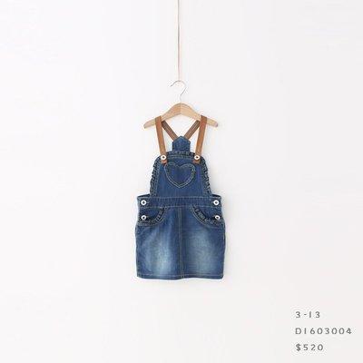 【現貨】 JC BABY 休閒愛心吊帶牛仔洋裝(共兩色) #D1603004