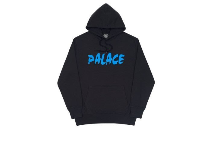 ☆AirRoom☆【現貨】2017AW PALACE PALAZER HOOD BLACK 帽TEE 黑色 LOGO