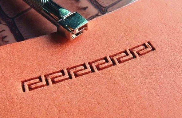 老約翰 鋼製 印花工具  打印 皮革打印  印模 唐草雕刻 雕刻 精緻手工鑄造 手工具 皮雕工具 皮革工具