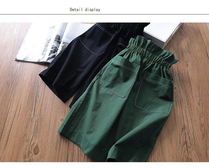 【溜。溜。選物】春夏新款*小童純色收腰寬鬆闊腿褲長褲