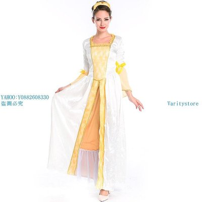 Varitystore萬圣節服裝 歐洲皇后服中世紀復古宮廷裝 希臘女神服 舞會女王裝