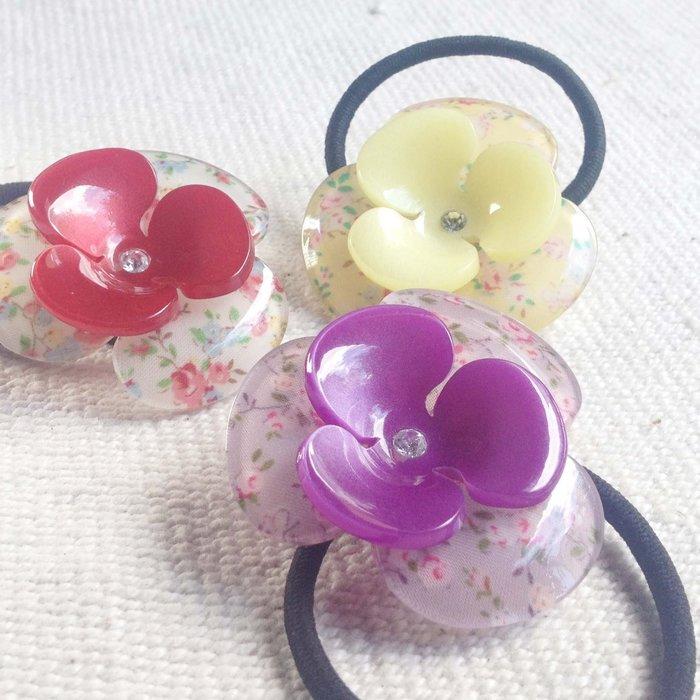 【MITHX】花夏,三瓣花,髮束,髮圈-四色