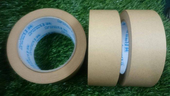 TC量販店 寬2.4CM長3600公分一捲20元 牛皮紙膠帶 布質膠帶 封箱膠帶 超強黏性 可書寫 紙膠帶