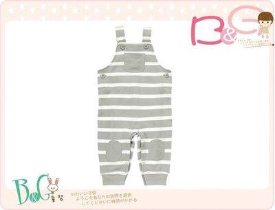 【B& G童裝】正品美國進口GYMBOREE Striped Soft Overalls 灰色條紋吊袋長褲18-24m