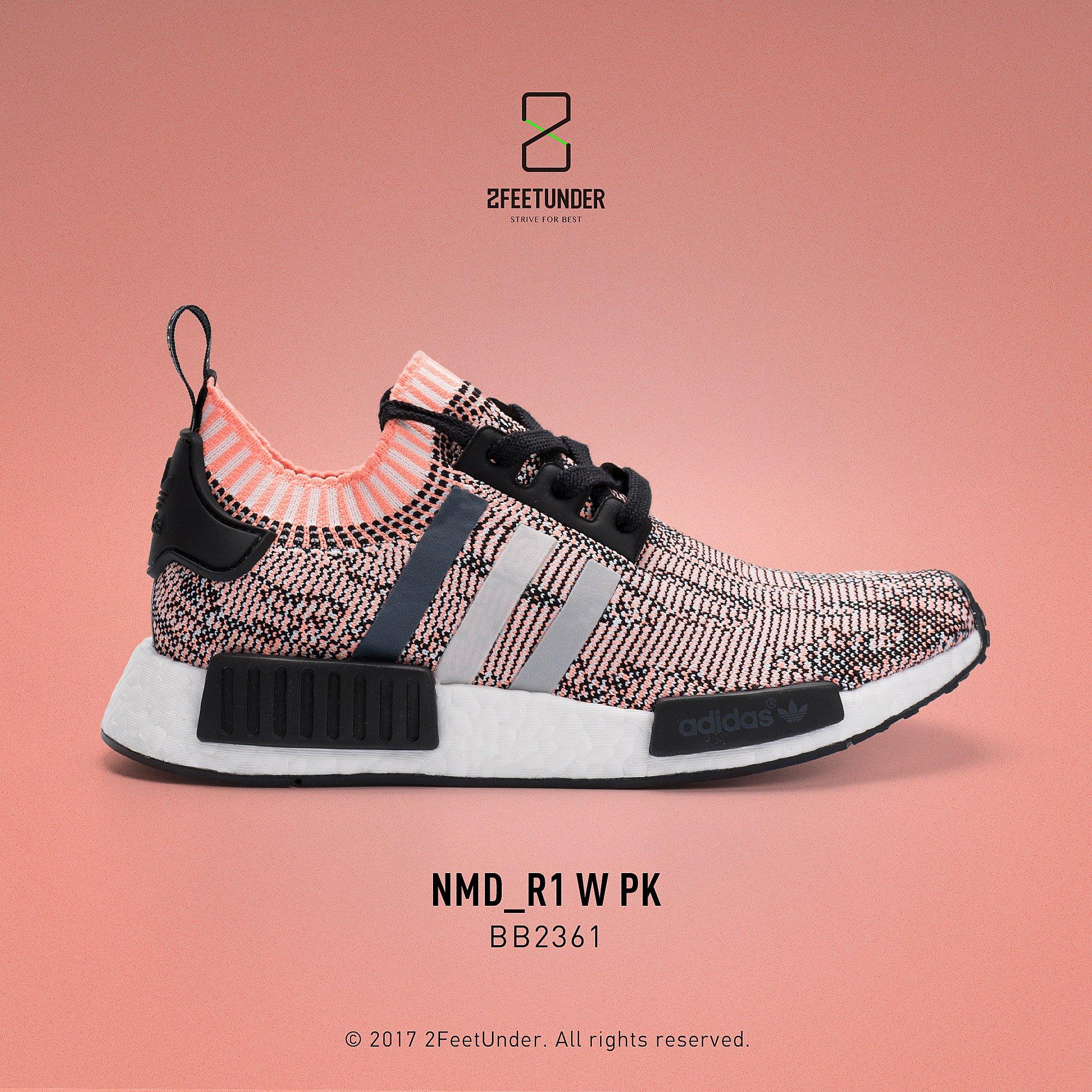 buy popular 8c191 370ff 2FeetUnder - Adidas Originals NMD_R1 PK W 黑粉編織 BB2361