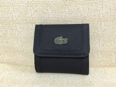 Lacoste 黑色 皮夾 錢包