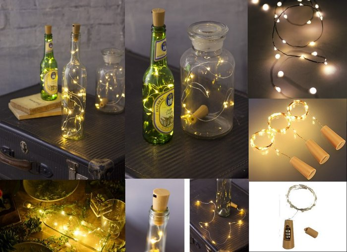 ((限時優惠))~誠萍生活家具~居家佈置婚禮佈置必備 螢火蟲線燈(瓶塞款) LED線燈~直購價$50