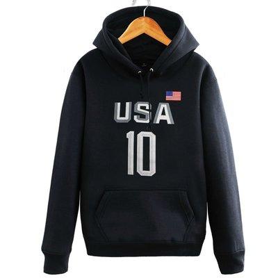 男生連帽長袖衛衣 歐文衛衣連帽衫奧運會USA美國男籃夢之隊男女訓練運動體恤籃球服