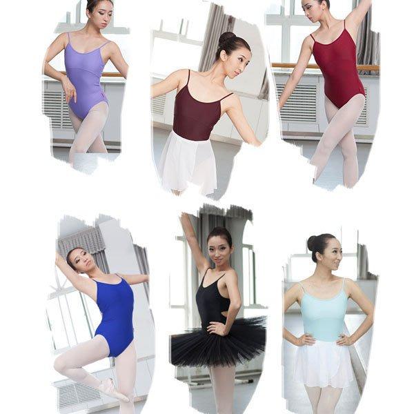 5Cgo【鴿樓】會員有優惠 40113122504 亞光氨綸吊帶形體操 練功服 芭蕾舞服裙衣成人舍賓服 芭蕾舞衣