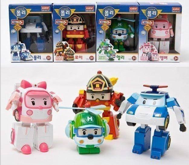 ✿荳荳小舖✿(現貨)過年禮物 兒童節禮物 ROBOCAR救援小英雄POLI 波利(波力)變型機器人變形機器 佩佩豬