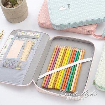 ☜男神閣☞筆袋文具袋創意韓國帆布筆袋 簡約小清新大容量鉛筆袋中學生多功能文具盒女