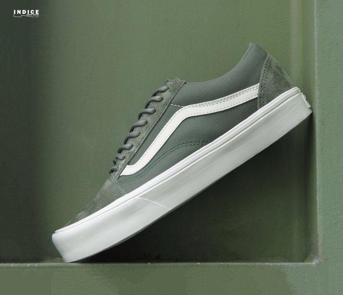 INDiCE ↗ Vans x Rains Old Skool Lite 超輕量滑板休閒鞋 軍綠色