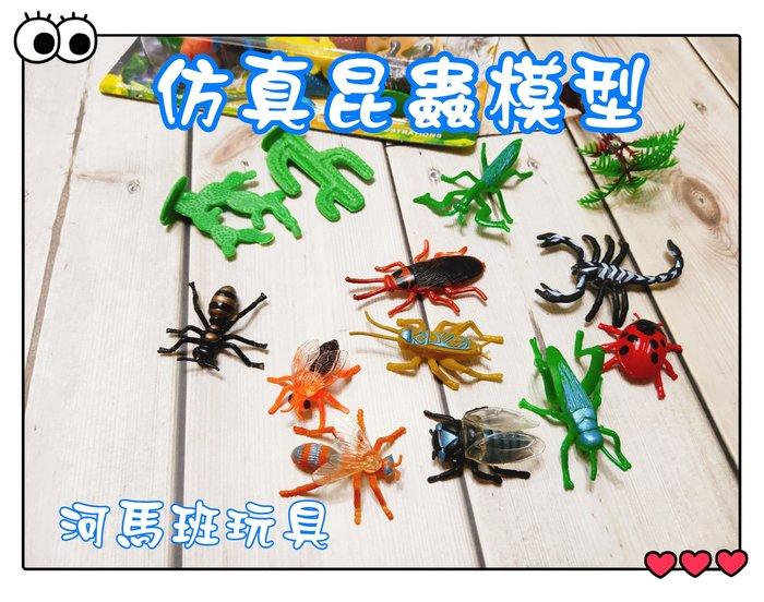 河馬班玩具-仿真恐龍/昆蟲模型