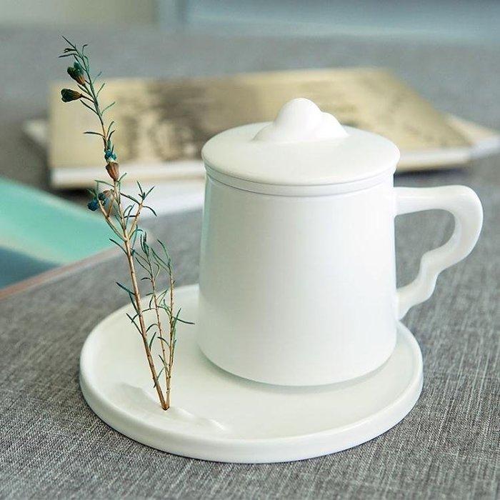 陶瓷茶杯過濾帶蓋功夫茶具辦公喝茶水杯泡茶杯茶水分離禮品Y-優思思