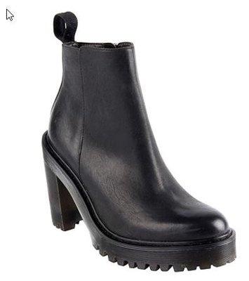 *女人最愛*馬丁Dr. Martens馬汀大夫-馬黛莉娜高跟短筒靴(女款黑色)Second-Hand