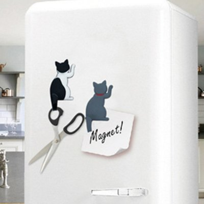 貓咪背影招手搖搖尾巴磁鐵掛鉤 冰箱磁鐵 掛勾【JC3226】《Jami》 新北市