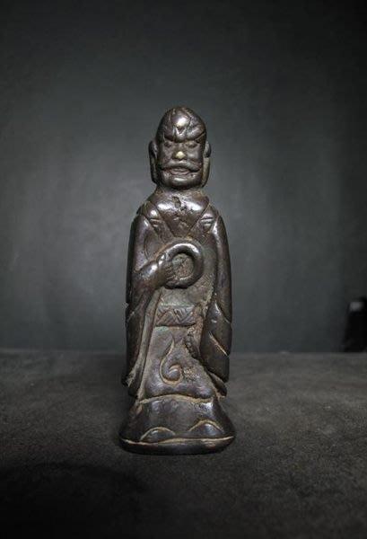老銅雕 ◎  持環羅漢