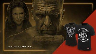 [美國瘋潮]正版WWE Triple H Monarch & Authority Tee 尊嚴權威HHH公司幫衣服特價中