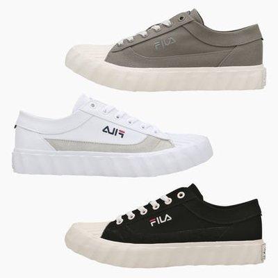 【Luxury】韓國代購 FILA classic kicks G 餅乾鞋 白 黑 灰綠 3色 平底 帆布鞋 休閒鞋
