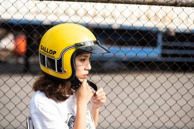 (I LOVE樂多) Gallop 3/4復古安全帽  #4-MACH/馬赫 黃色 完美比例小帽體 舒適好戴全可拆洗