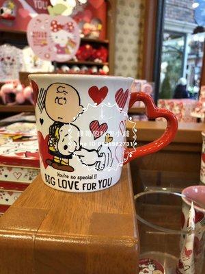 日本代購 大阪環球影城 情人節 限定 snoopy 史努比 馬克杯  水杯 環球商品皆有代購  KITTY 小小兵