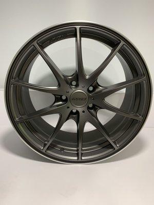 CR輪業 全新 RAVS 18吋鋁圈 5/114 消光灰 亮黑 完工價:5500 類 RAYS G25
