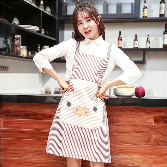 PS樂【CJ505】韓版時尚無袖圍裙背帶H型工字背圍裙