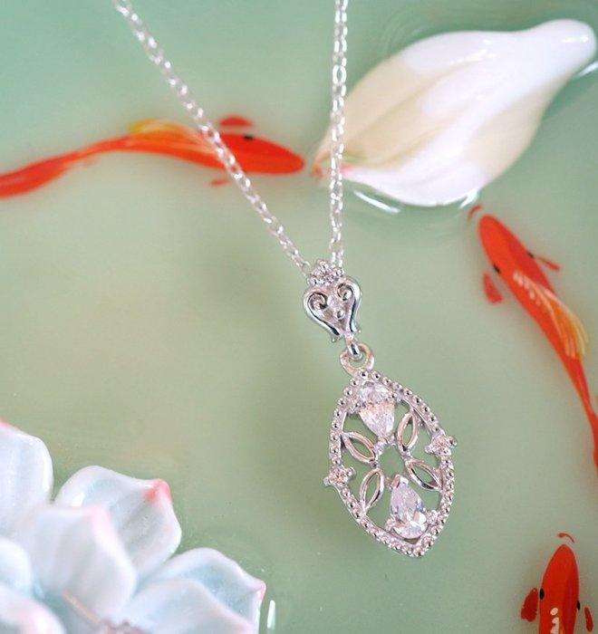 奧嘉精品工作室 Martina Olga 925純銀飾蕾絲馬眼珠寶款耳環項鍊墜飾 婚禮伴娘宴會中國風旗袍