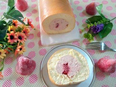 低醣/生酮/無夫質 無粉質草莓生乳捲