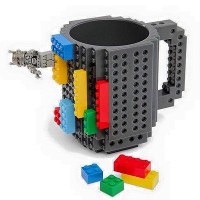 ☆ LEGO樂高積木杯 拼裝杯DIY組裝杯 咖啡杯 馬克杯 带積木 陶瓷水杯 咖啡馬克杯子350ml@ 【樂高系列 】