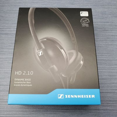 六折 原裝行貨 Sennheiser HD 2.10 頭戴式耳機 On-Ear Closed Back Headphones - Black