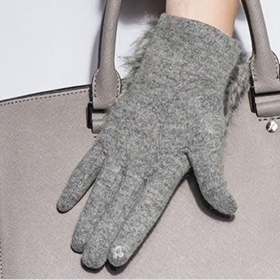 羊毛手套 觸控女手套-可愛蝴蝶結防寒保暖時尚女配件4色72h18[獨家進口][米蘭精品]