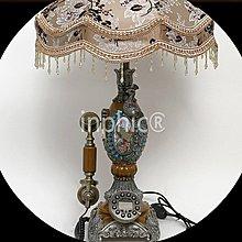 INPHIC-歐式復古檯燈電話 家用商務仿舊有繩電話