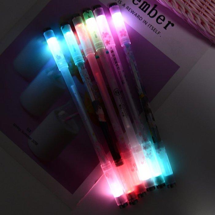 西柚姑娘雜貨鋪☛熱賣中#轉轉筆中性筆可愛創意0.5黑色mm學生用超萌燈泡發光筆小清新水筆
