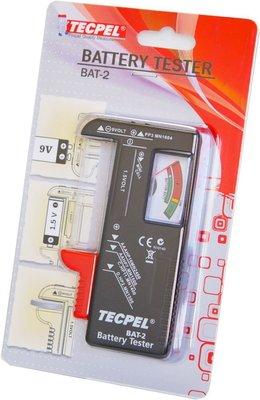 TECPEL 泰菱 》BAT-2 電池測試器