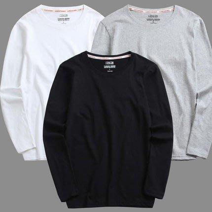 [C.M.平價精品館]M~5XL新品特價/簡約百搭舒適純棉長袖T恤  加大碼