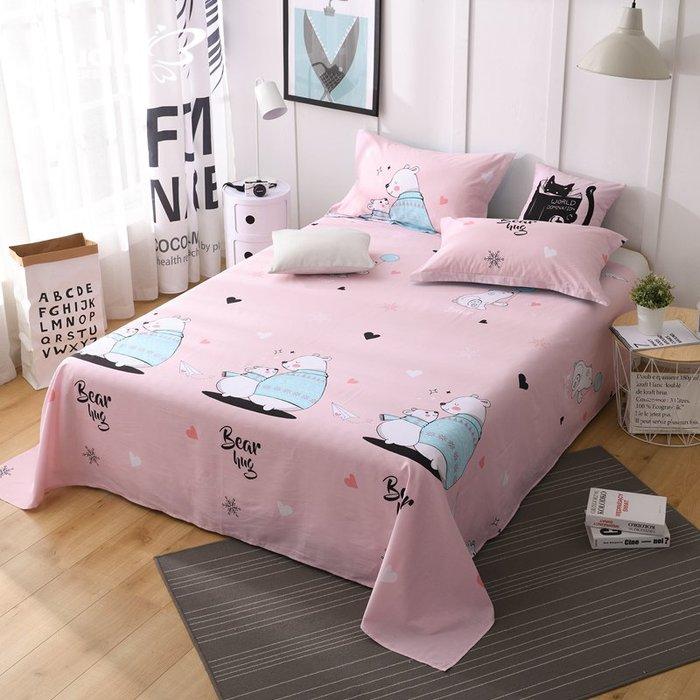 奇奇店-純棉床單單件 學生單人1.2m卡通被單雙人1.5m1.8m床全棉新品