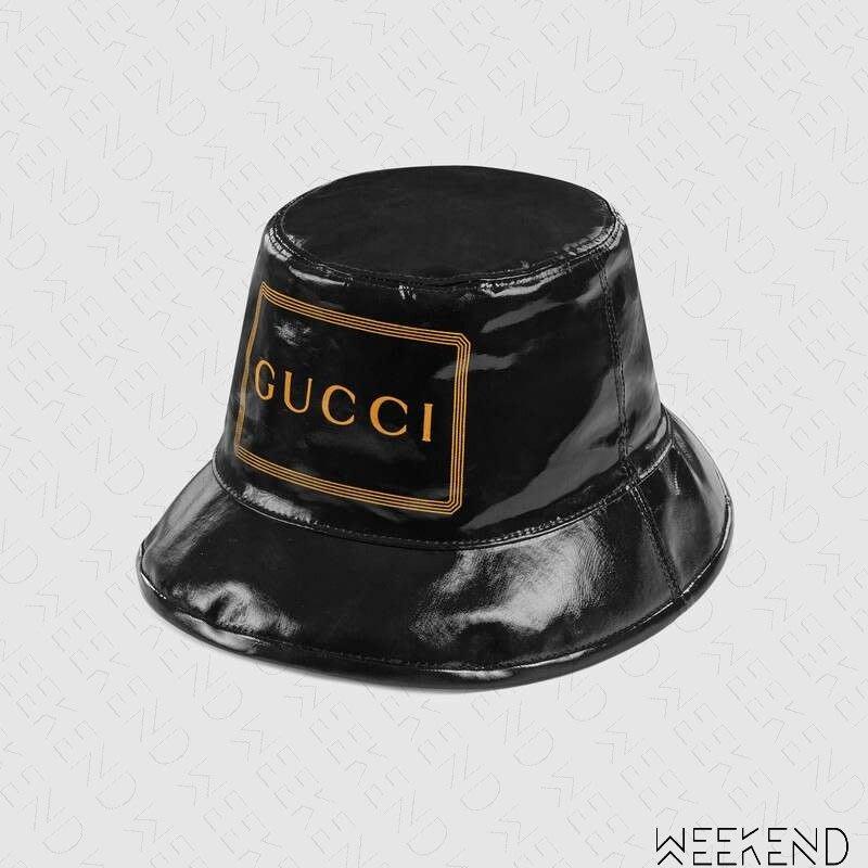 【WEEKEND】 GUCCI Bucket Hat Logo 方框 文字 漁夫帽 帽子 黑色 576371