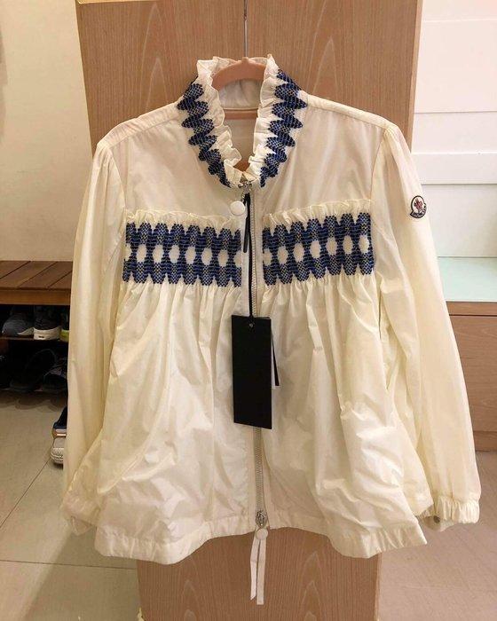 Moncler suze春款白色風衣 薄外套 全新尺寸00 專櫃真品 現貨