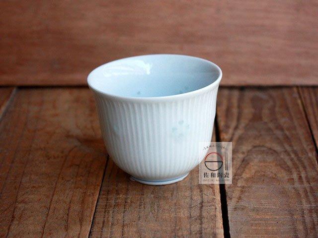 +佐和陶瓷餐具批發+【XL070924-27A青瓷摟空櫻茶杯-日本製】日本製 茶杯 湯吞杯 招待杯 水杯 咖啡杯 杯具