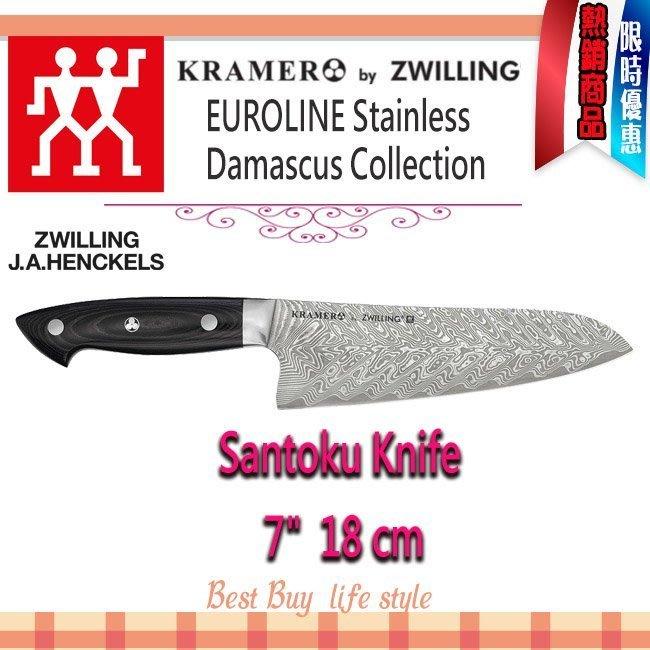 代購賣場 Zwilling人Bob Kramer Euroline Damascus 18cm santoku 三德刀