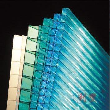 【利豐牌】PC中空板(6mm湖藍色、茶色、草綠色)抗UV透光、隔音、隔熱/耐力板/角浪板/耐力板/廣告看板