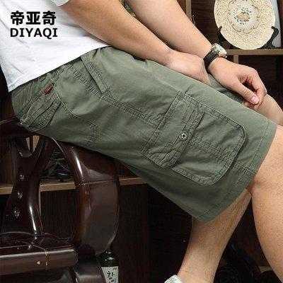 哆啦本鋪 休閒褲 爸爸裝中年男士寬鬆老年人五分休閒褲沙灘褲中褲中老年短褲男夏季 D655
