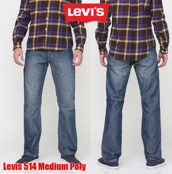 【 超搶手 】美國 全新正品 Levis 514 -0381 Slim Medium Poly Jeans 小直筒合身 水洗刷紋 淺藍 W28-40