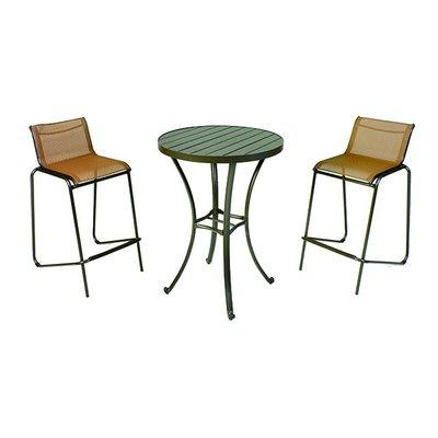 【紅豆戶外休閒傢俱】鋁合金高腳紗網桌椅組 一桌二椅 庭園桌椅 咖啡廳桌椅 餐廳桌椅 中庭桌椅 民宿桌椅 農場桌椅