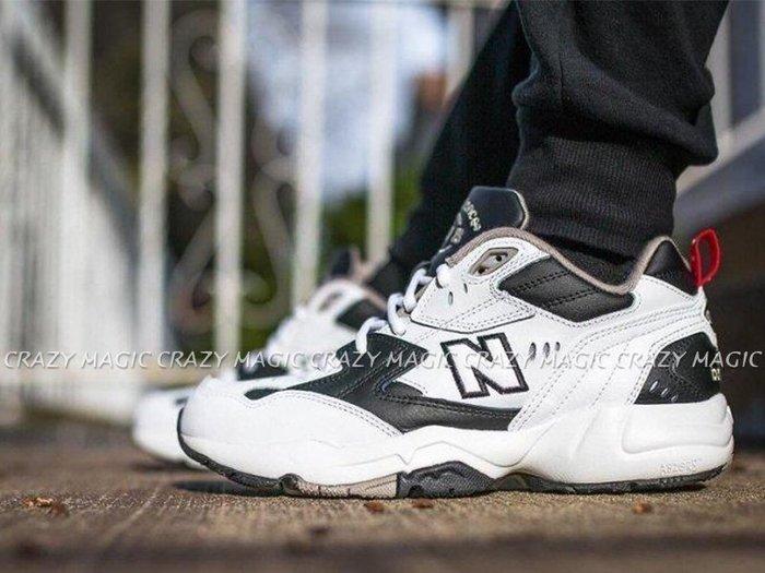 NEW BALANCE NB 608 老爹鞋 復古休閒鞋 白黑紅 男女尺寸 # WX608RB1