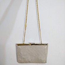 早期摩登時代 美好時光 vintage 澳洲製 Park Lane 金屬 立體 古著 口金 晚宴包 側背包