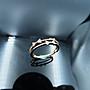 %玉承珠寶%輕珠寶系列14k玫瑰金/白K金錯色天然鑽石可愛蝴蝶結鑽戒/尾戒DR5(現貨1)