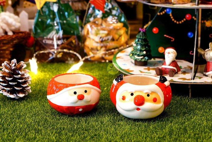 陶瓷杯_聖誕老人紅毛帽/聖誕老人雙手舉高_A075-037/A075-038◎聖誕節.陶瓷杯.聖誕老人