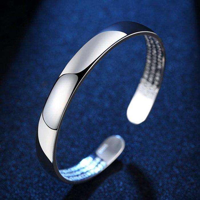 復古佛語心經鍍銀手鐲 女鍍銀日韓國版時尚手環ps256